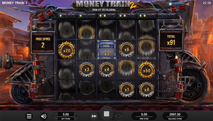 rare gros gains sur la machineà sous Money Train 2